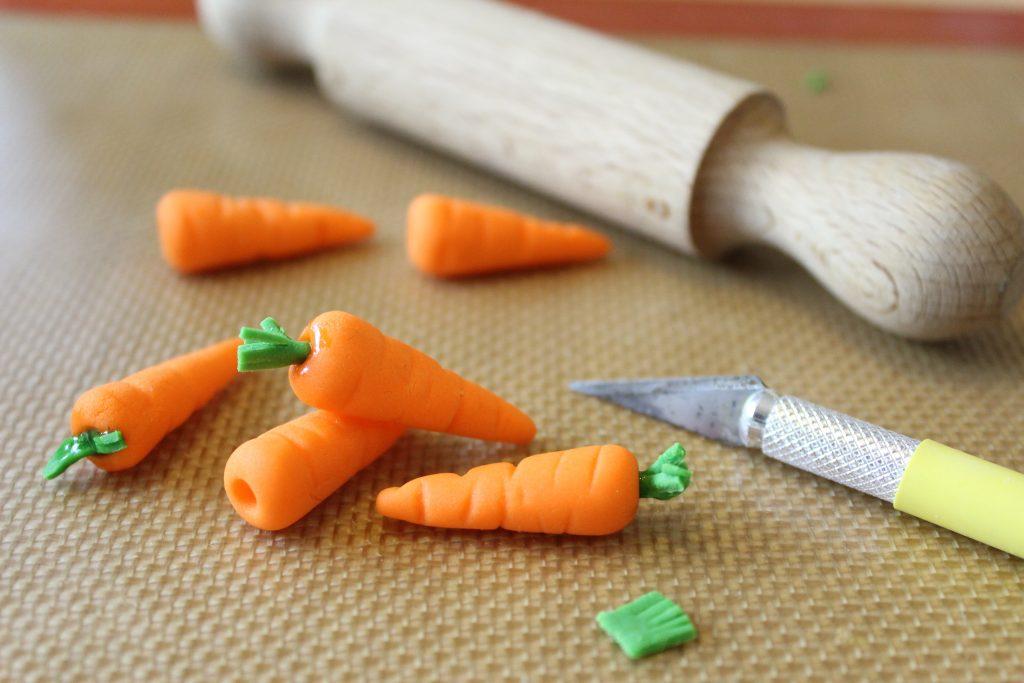 Sugar paste carrots