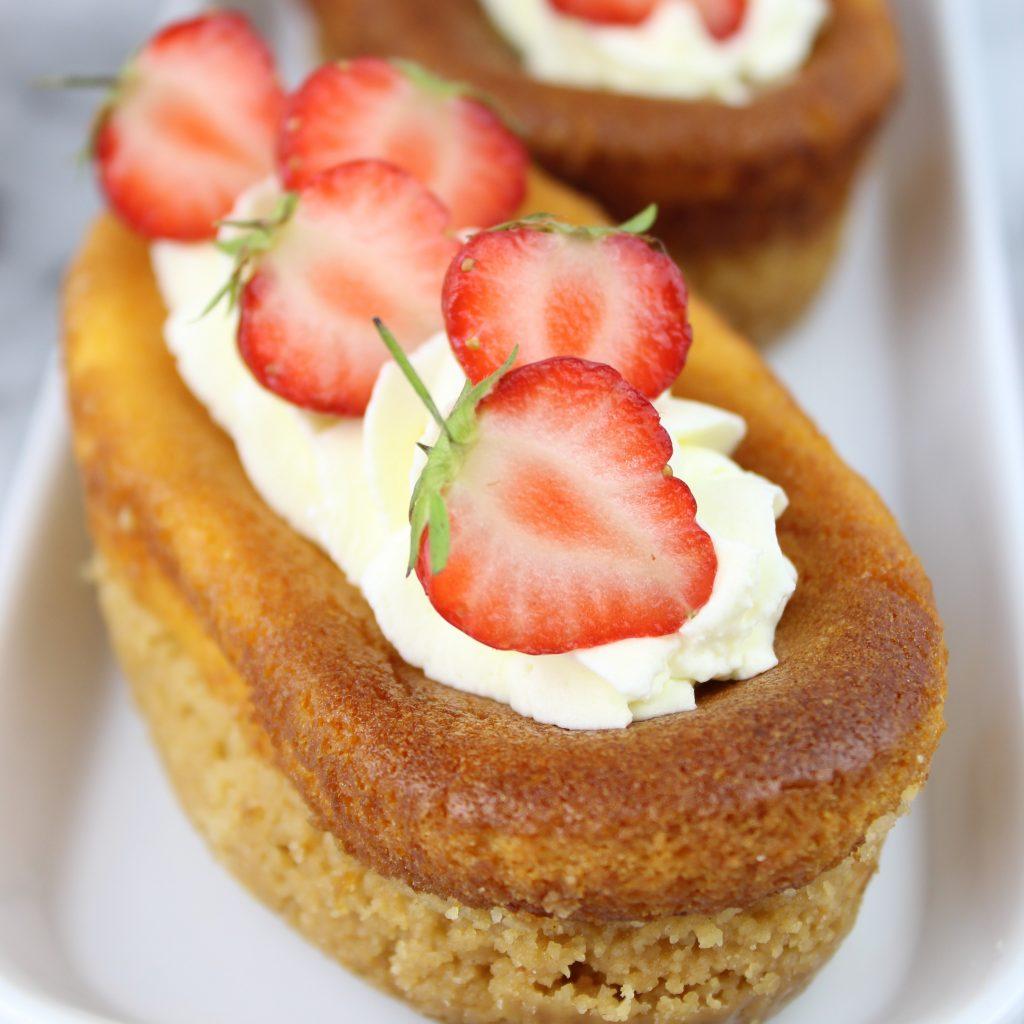 Cheesecake allo zafferano - primo piano