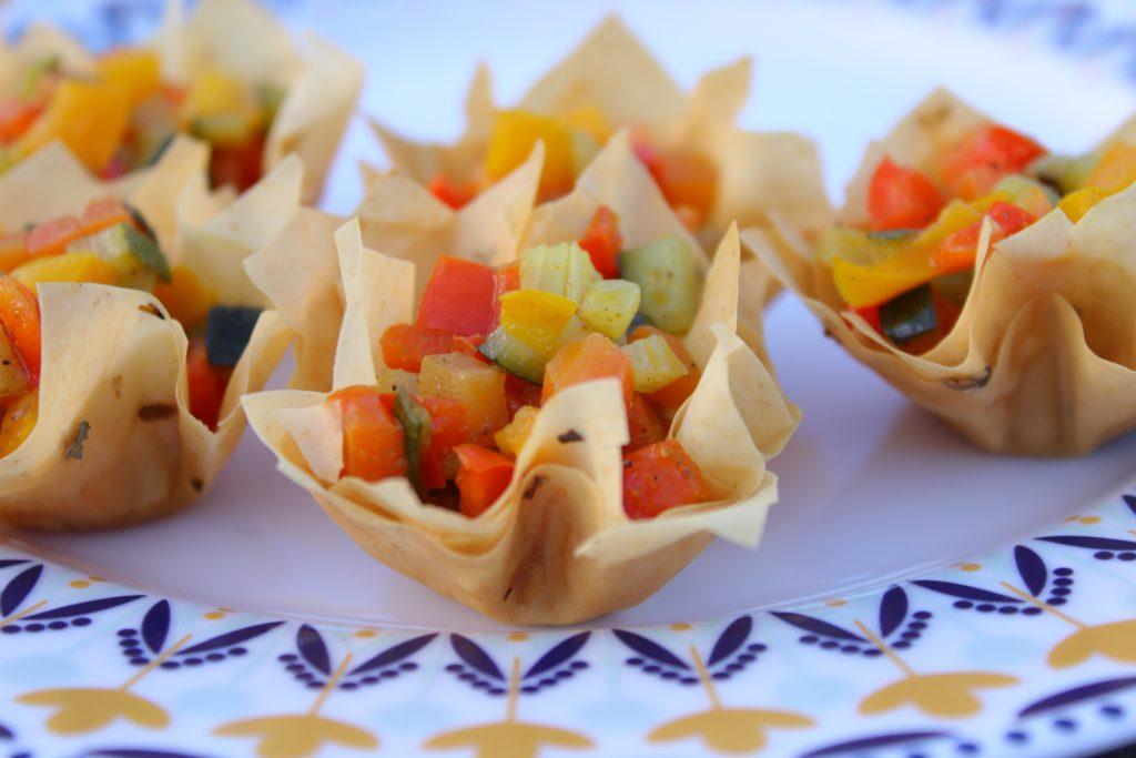Cestinetti di pasta phillo con verdure
