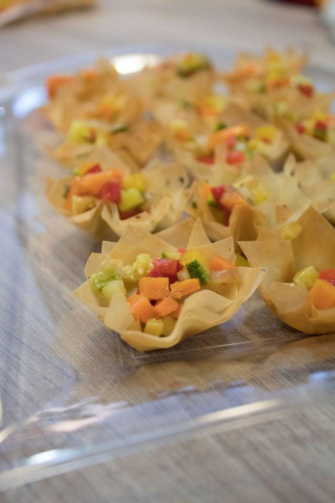 Cestinetti di pasta phillo con verdure croccanti