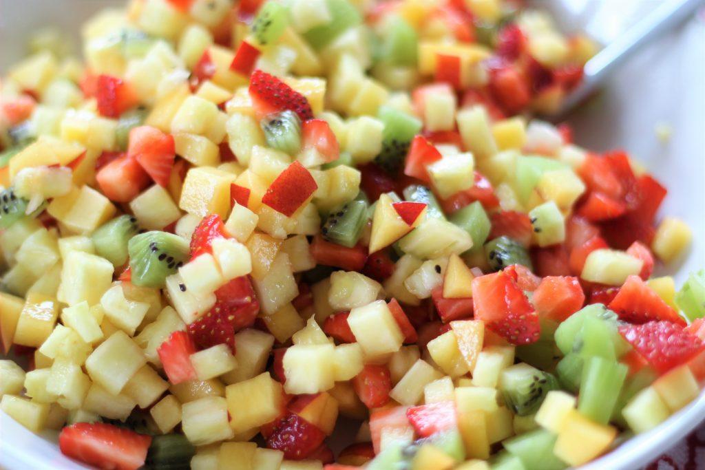 Procedimento - frutta a cubetti
