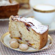 Peach and amaretto cake