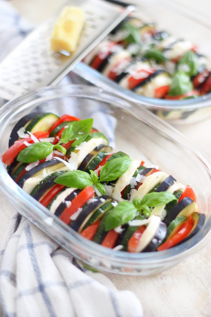 Ratatouille with aubergines and tomatoes
