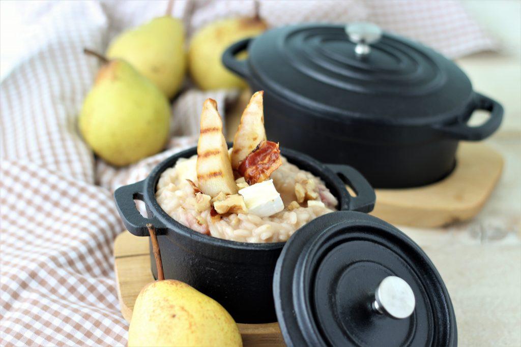 Risotto alle pere e Brie in cocotte di ferro