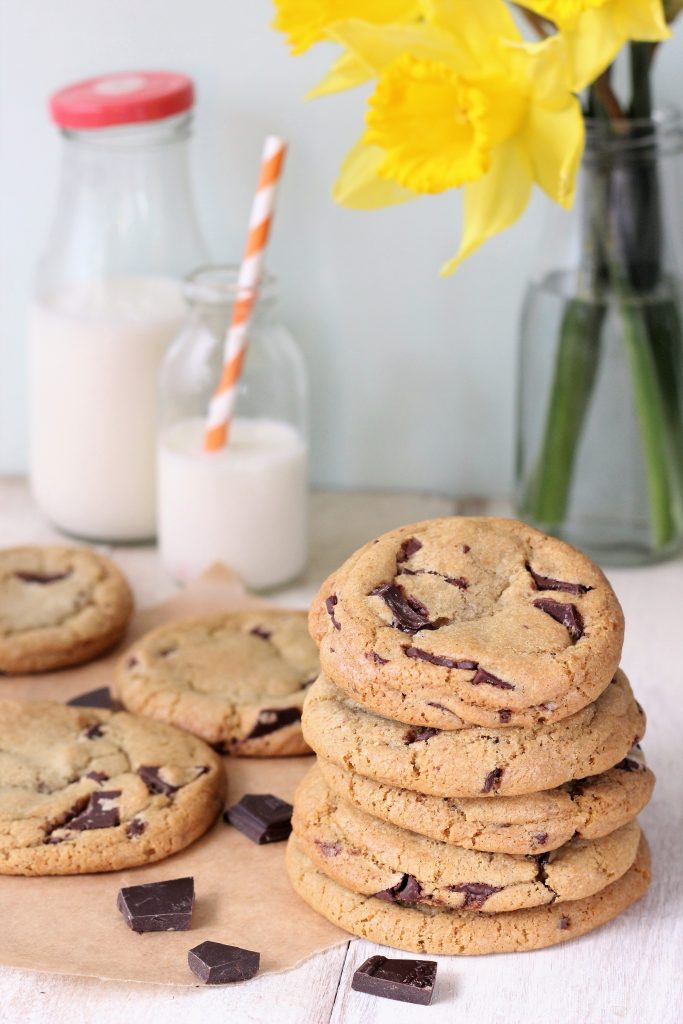 Chocolate chip cookies morbidi