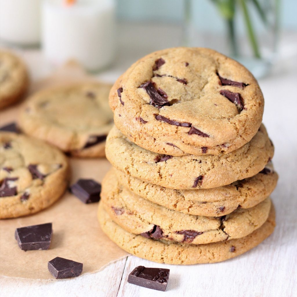 Chocolate chip cookies / primo piano