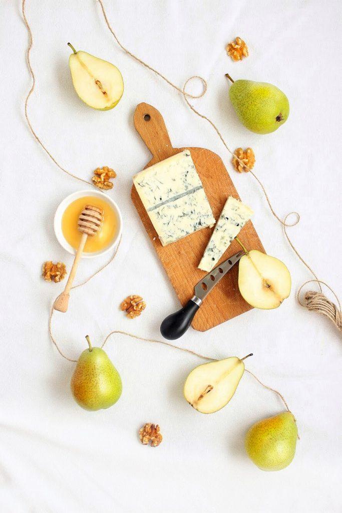 Ingredienti - Gorgonzola, pere e miele