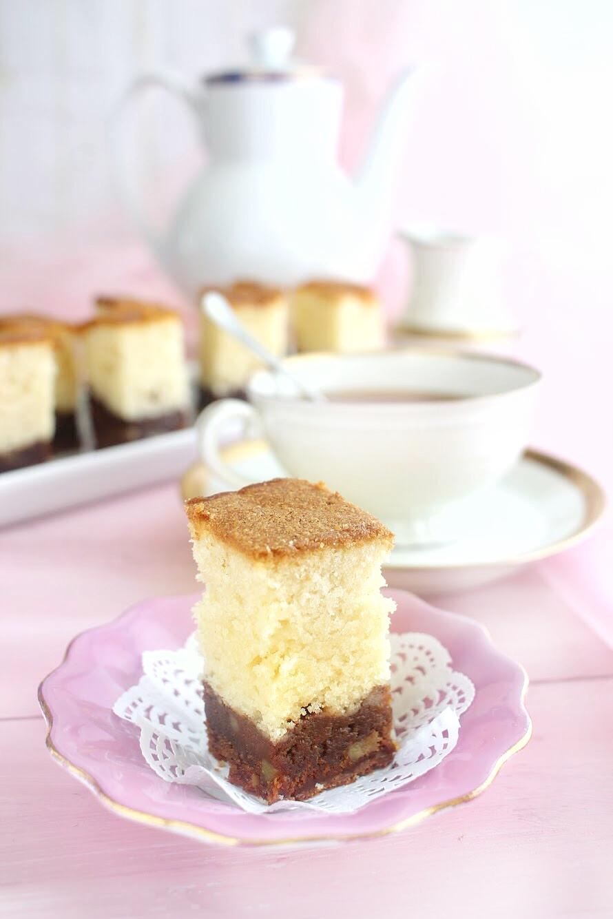 Brownie-mascarpone cake
