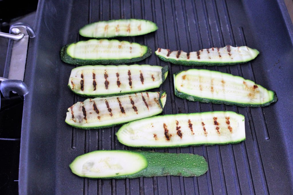 Ingredients - Grilled courgettes