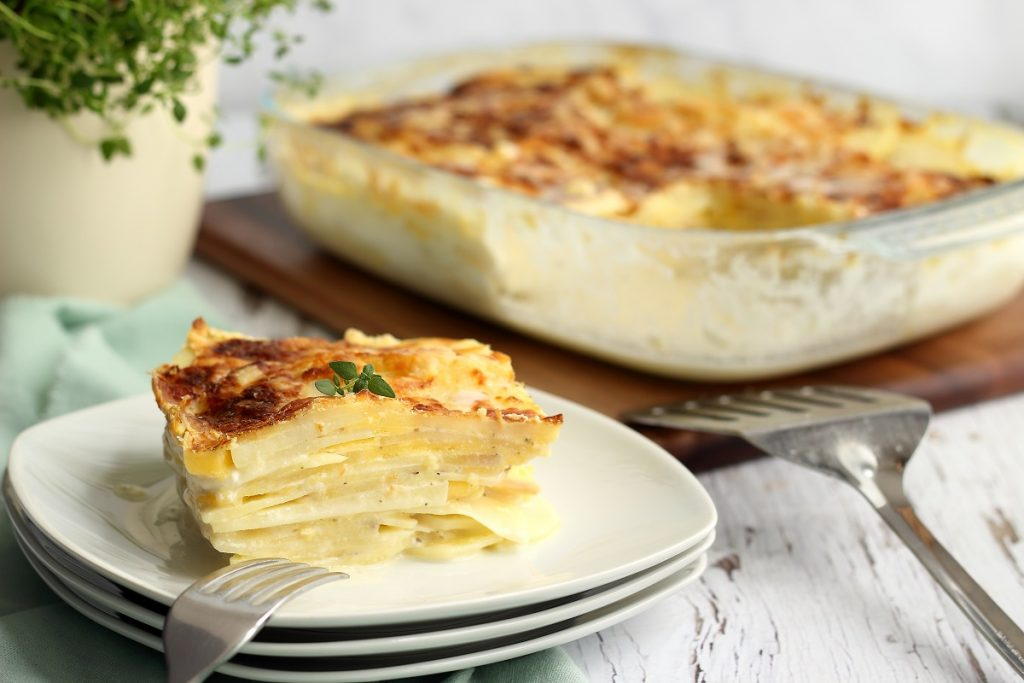 Potato dauphinoise - slice