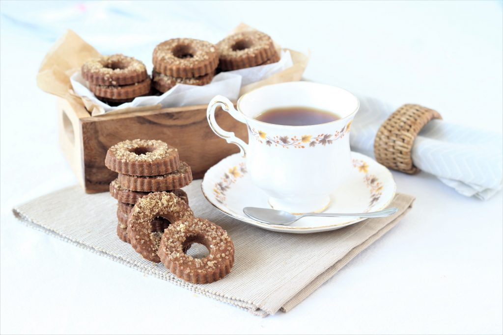 Muscovado biscuits and tea