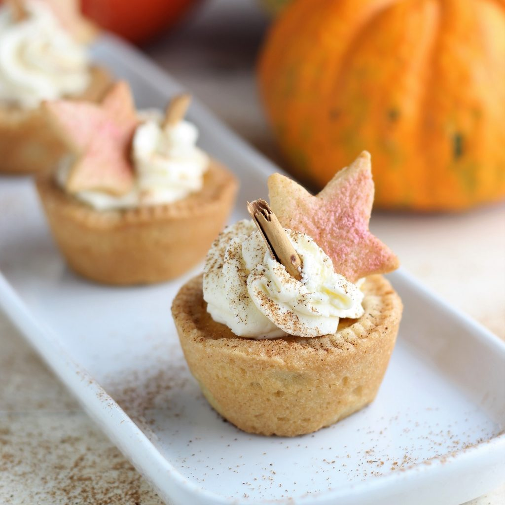 Mini pumpkin pie - primo piano
