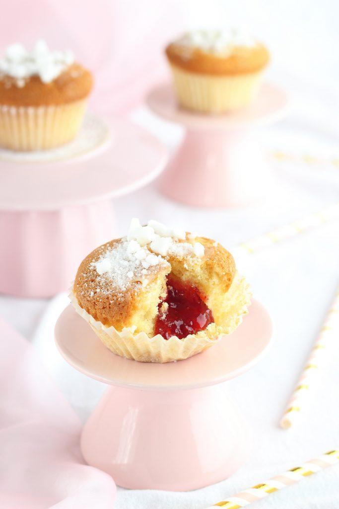 Doughnut muffin con marmellata - interno