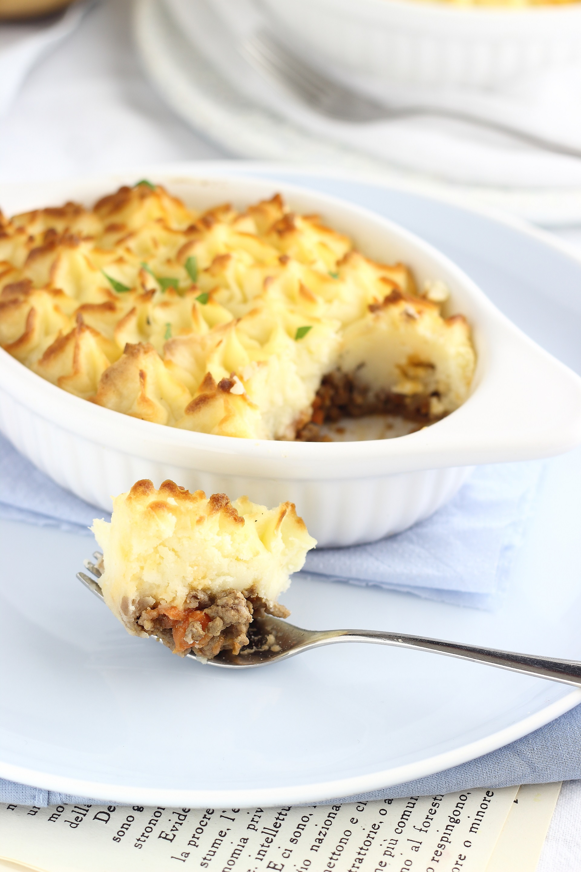 Shepherd's pie with Parmesan