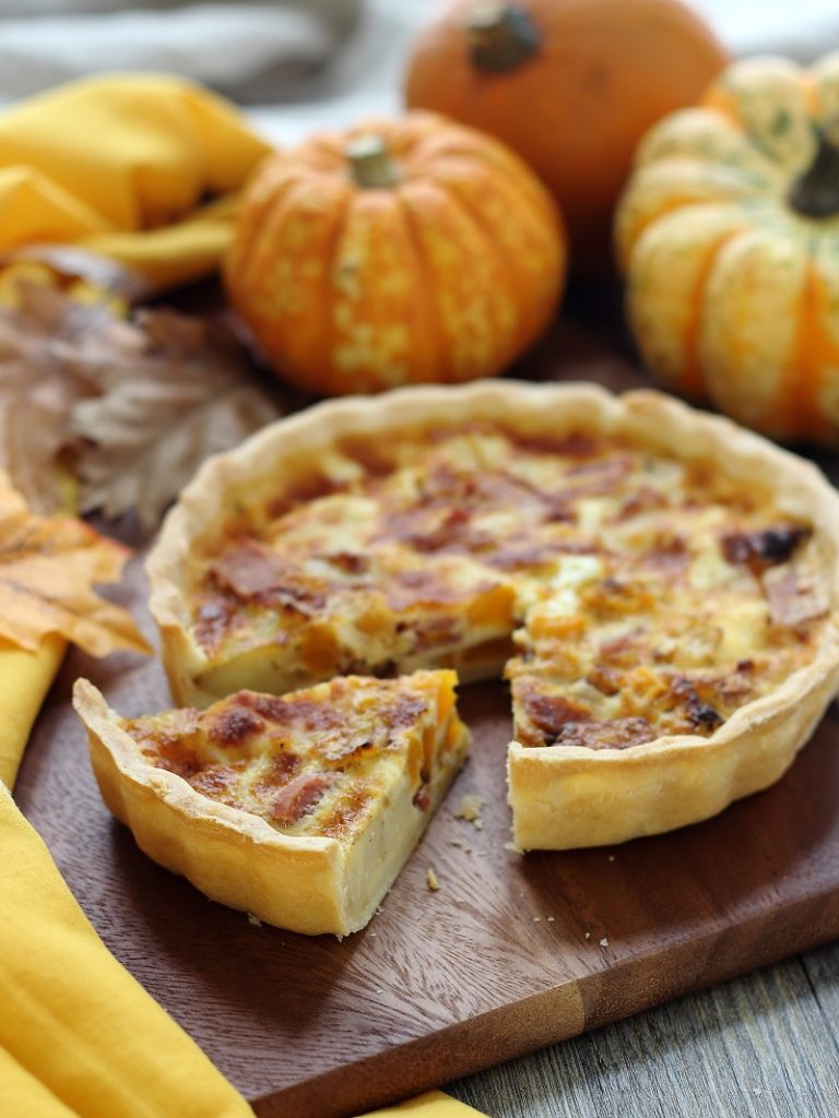 Butternut squash savoury tart -close up