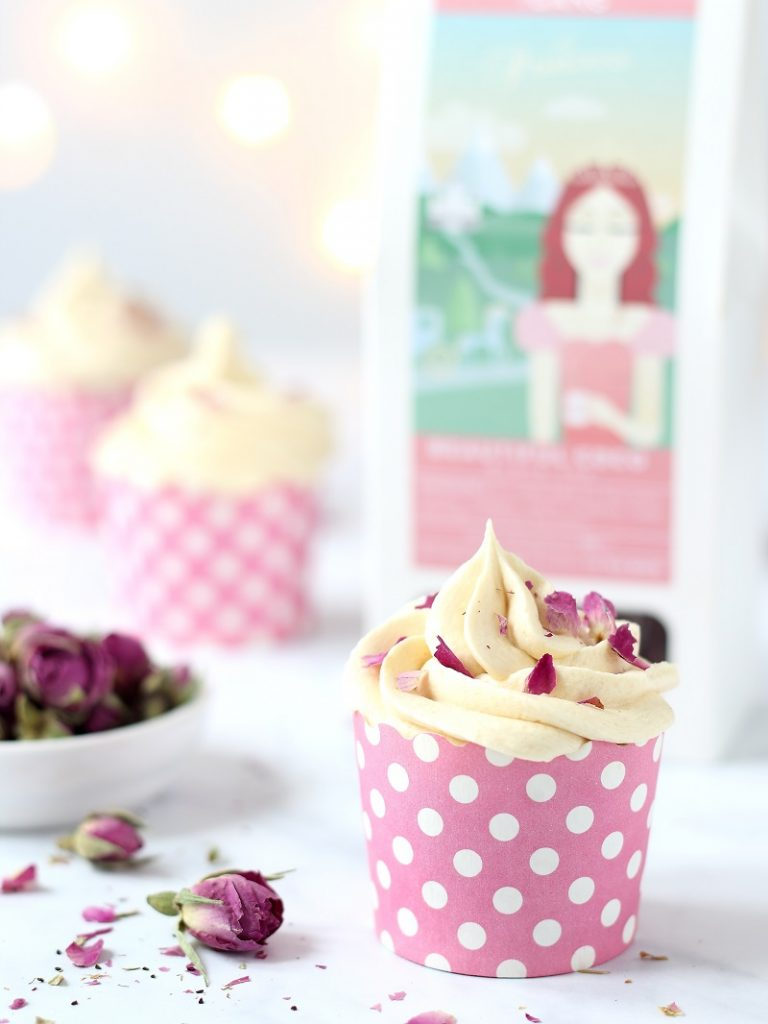 Cupcakes with black tea