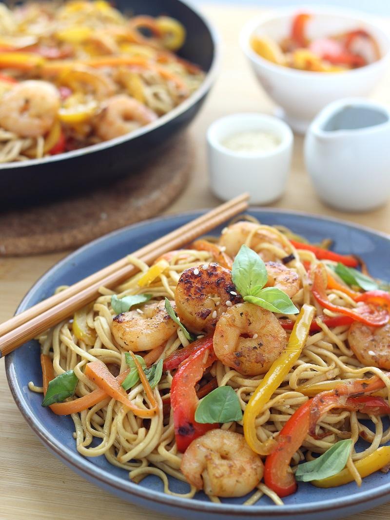 Ricetta Ramen Ai Gamberi.My Foodie Days Noodles Ai Gamberi E Alle Verdure Con Salsa Di Soia E Zenzero