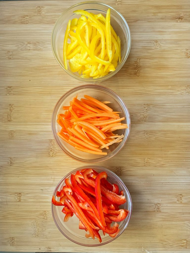 Procedimento - verdure miste a julienne