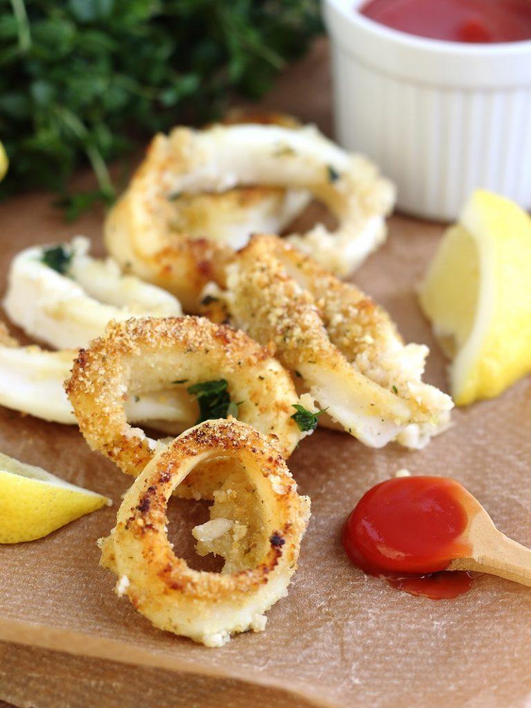 Calamari gratinati al forno con limone