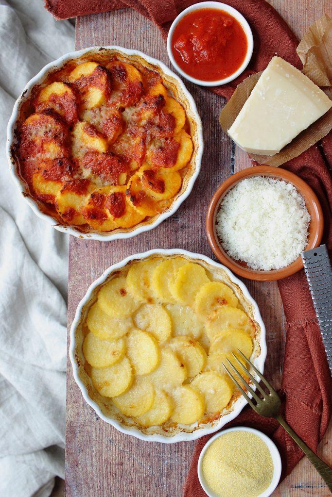 Gnocchi di polenta gratinati- flatlay