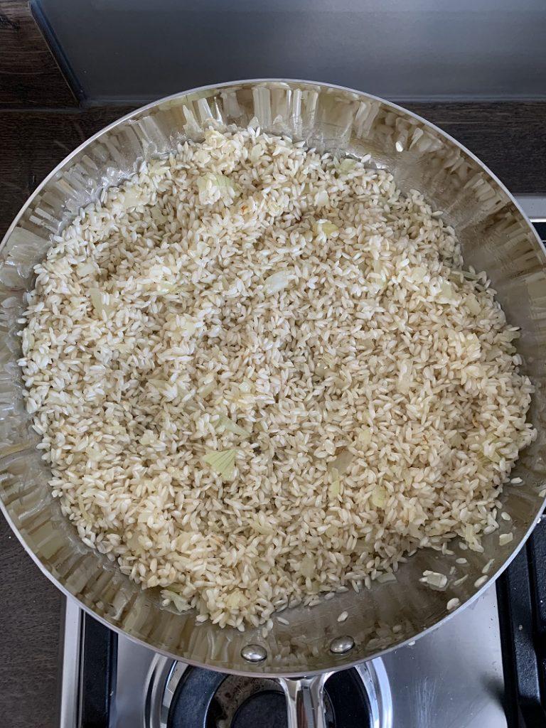 Procedimento - tostatura riso in padella