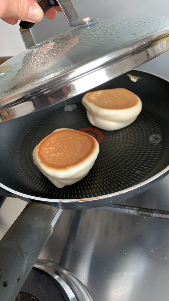 Cooked Japanese pancakes ready to serve