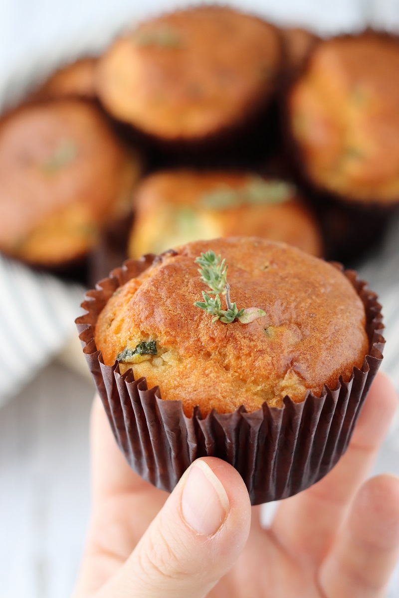 Courgette muffins - close up