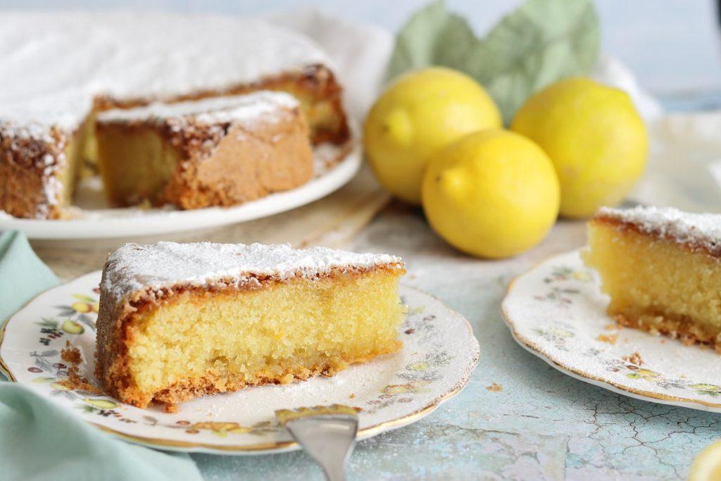 Torta caprese - slice close up