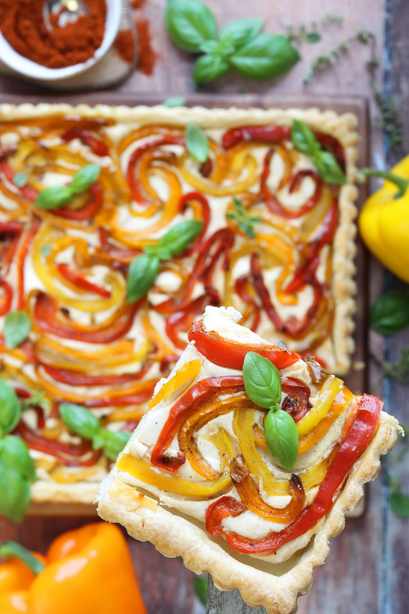 Torta salata ricotta e peperoni - fetta