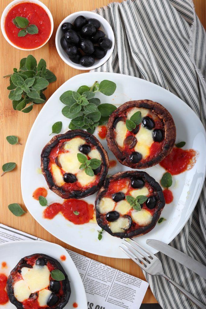 Pizza di funghi Portobello