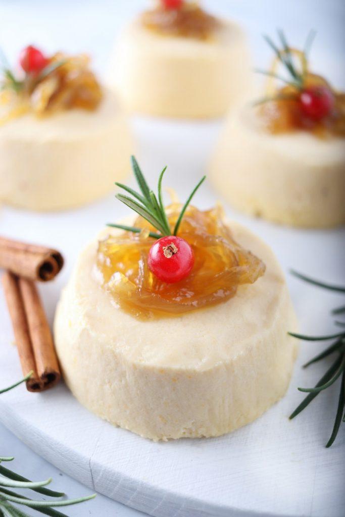 Budino di zucca salato con pecorino - close up