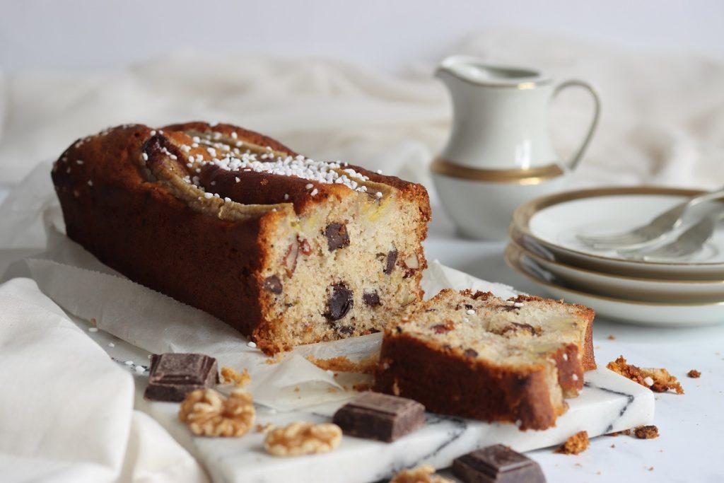 Plumcake banana e cioccolato - header