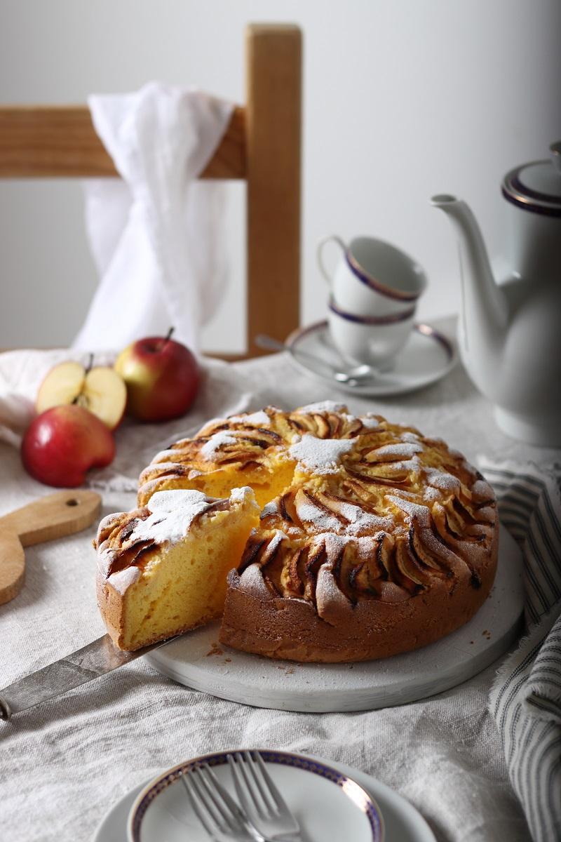 Torta di mele e zucca senza lattosio