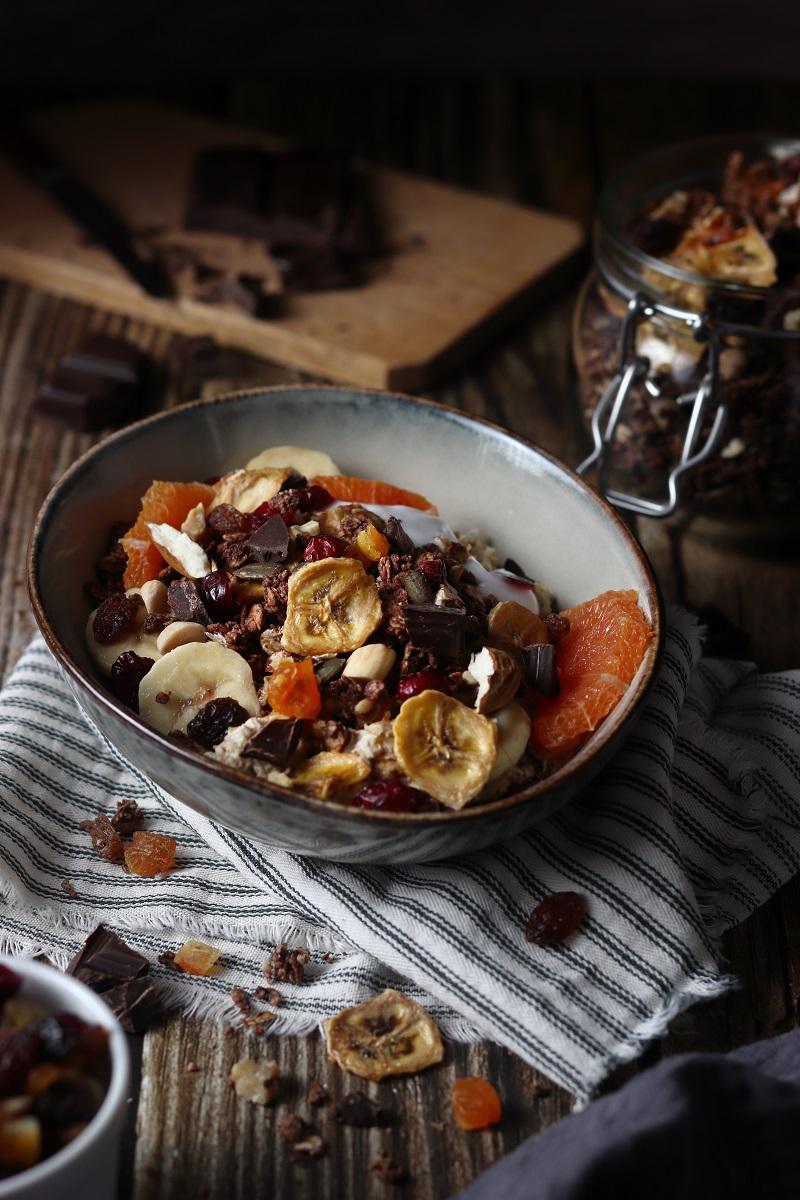Porridge di grano saraceno e granola