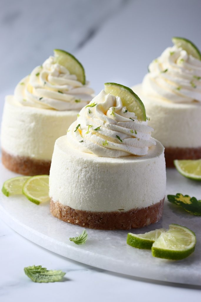 Key lime pie cheesecakes - header