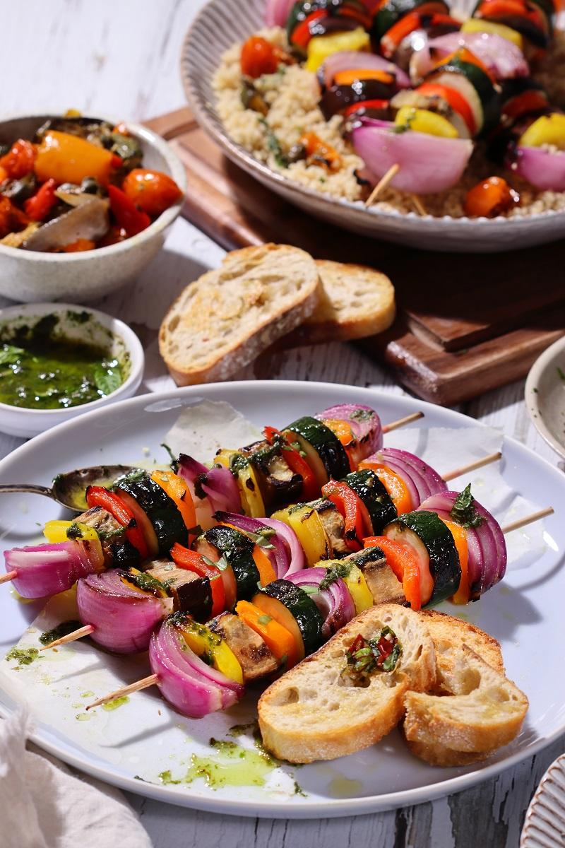Spiedini di verdure miste grigliati