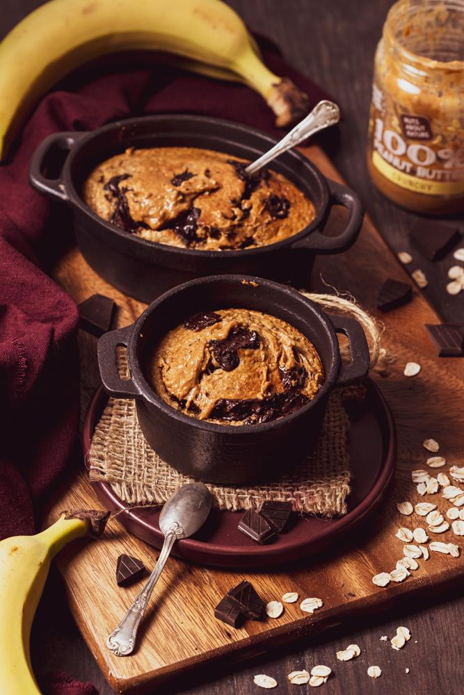 Baked oats facile al cioccolato