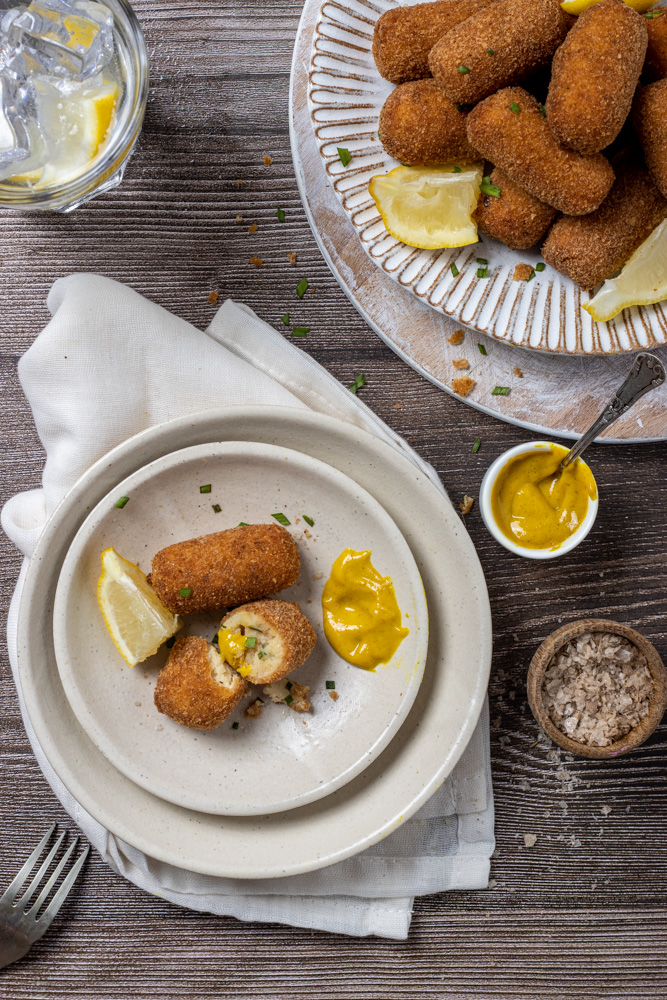 Crocchette di patate classiche - flatlay